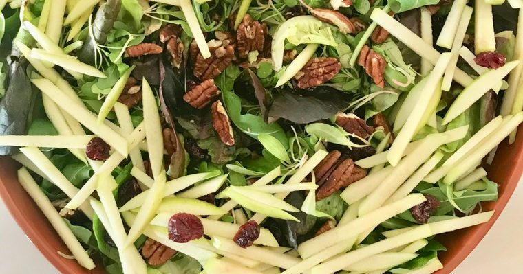 Apple, Cranberry & Pecan Salad